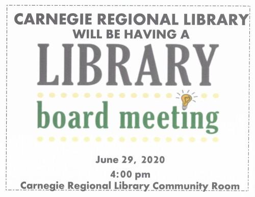 Update Board Meeting Sign 2020