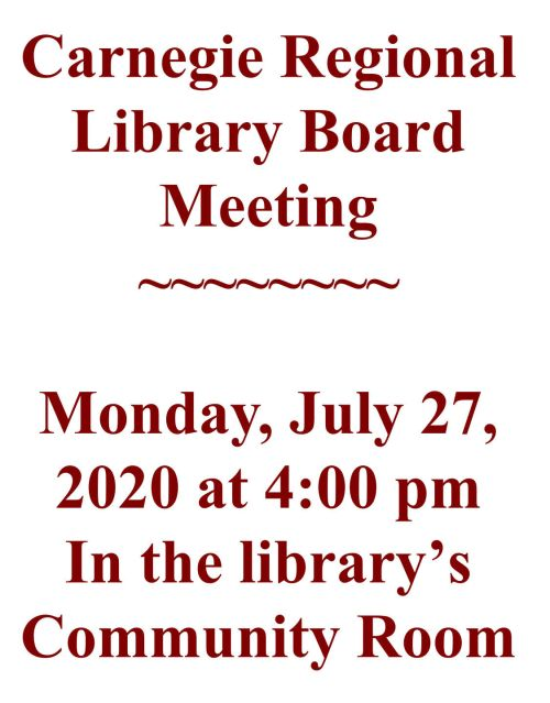 2020 Board Meeting Sign