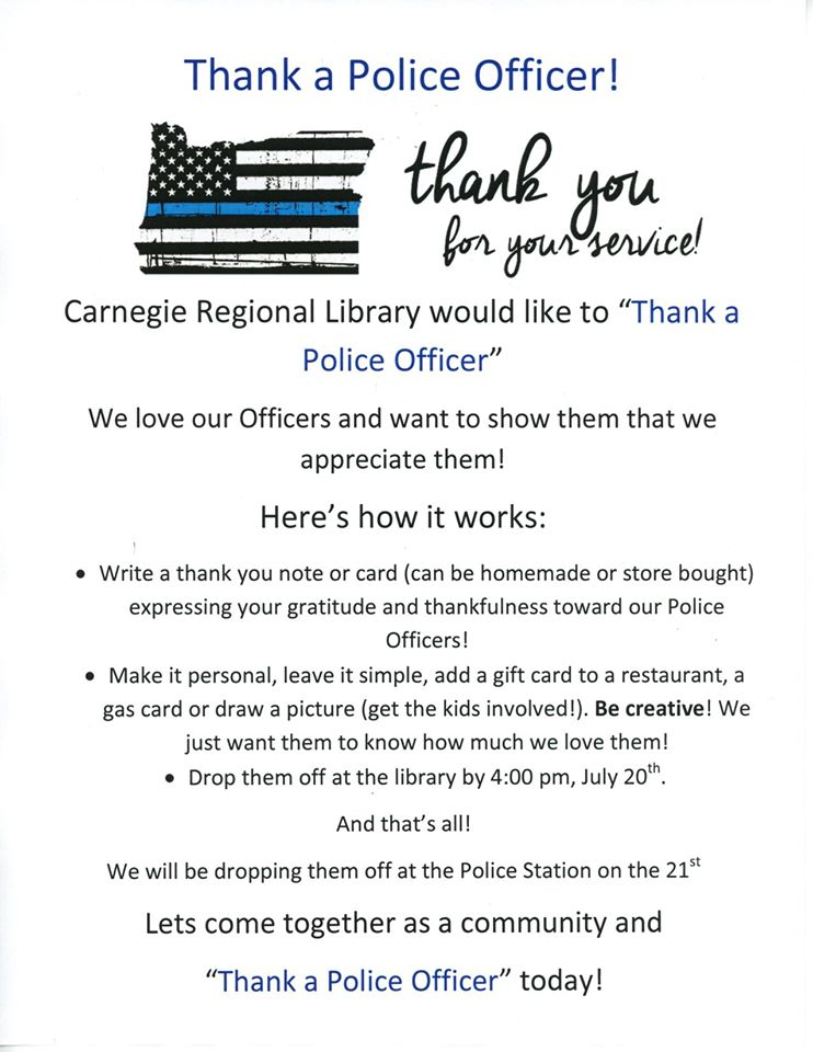 Thank a Police Officer Poster - June 2020